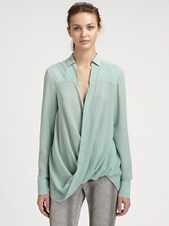 10 Crosby Derek Lam - Draped Silk Blouse