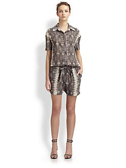 10 Crosby Derek Lam - Printed Short Jumpsuit