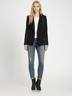 Rag & Bone - Jefferson Silk-Panel Blazer