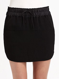 A.L.C. - Robey Waffle Crepe Mini Skirt