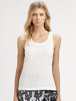 A.L.C. - Pixley Textured Cotton Tank