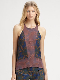 A.L.C. - Shibori Silk Georgette Tank