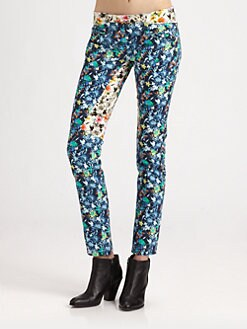 Roseanna - Floral-Print Skinny Jeans