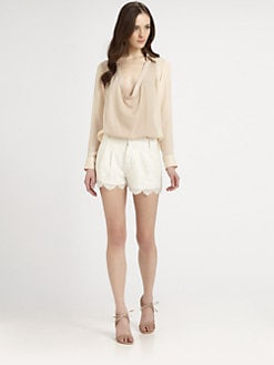 Haute Hippie - Silk Cowlneck Blouse