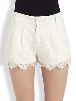 Haute Hippie - Scalloped Lace Shorts