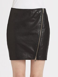 Haute Hippie - Leather Moto Skirt