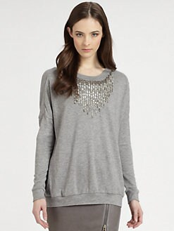 Haute Hippie - Embellished Silk Sweater