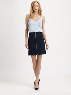 Carven - Lace-Back Jersey Tank