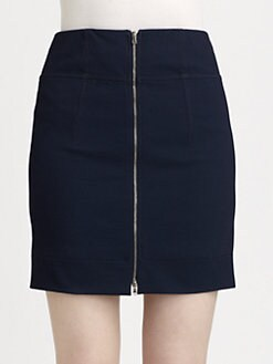 Carven - Zip-Front Twill Skirt