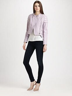 Carven - Leather Moto Jacket