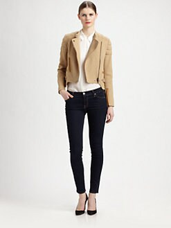 Carven - Quilted Cotton Moto Jacket