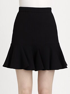 Carven - Double Crepe Flounce Skirt