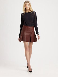 A.L.C. - Reese Leather Mini Skirt