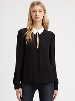 A.L.C. - Henry Silk Georgette Blouse