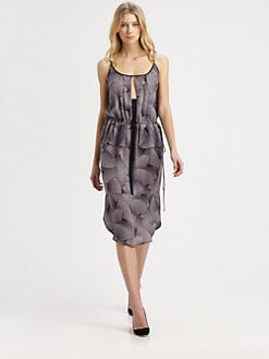 A.L.C. - Anza Silk Georgette Fan-Print Dress