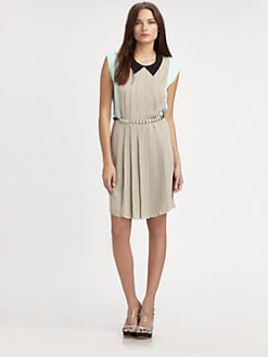 L'AGENCE - Pleated Silk Dress