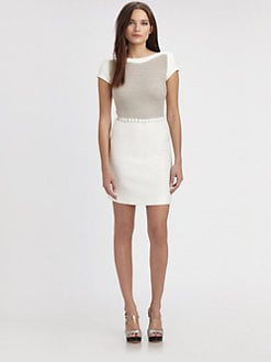 L'AGENCE - Crocheted-Bodice Dress