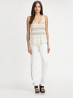 L'AGENCE - Loose Striped Tank Top