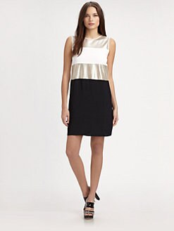 L'AGENCE - Mesh-Inset Dress