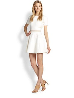 Elizabeth and James - Andi Sheer-Paneled Fit-&-Flare Dress