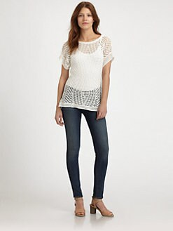 Thakoon Addition - Crochet Linen Top
