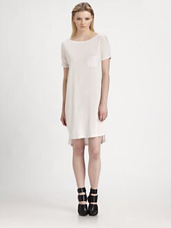 T by Alexander Wang - Classic Boatneck T-Shirt Dress
