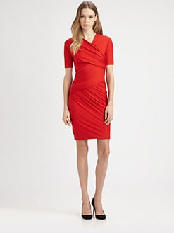 Carven - Draped Jersey Dress