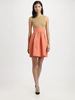 Carven - Two-Tone Full-Skirt Dress