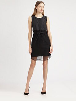 Carven - Lace Overlay Dress