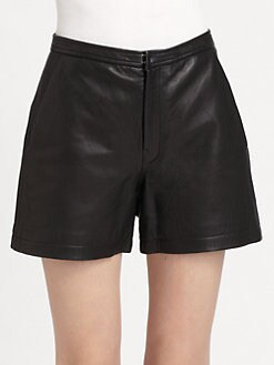 BLK DNM - Leather High-Waist Shorts