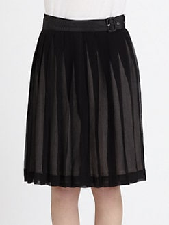 BLK DNM - Silk Pleated Skirt