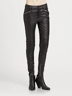 BLK DNM - Stretch Leather Pants