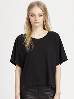 BLK DNM - Cropped Raglan T-Shirt