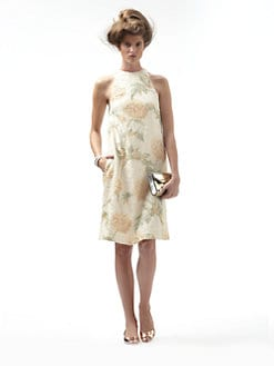 Suno - Sleeveless Floral-Print Sequin Dress
