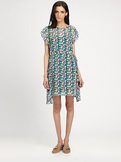 girl. by Band of Outsiders - Floral-Print Silk Dress