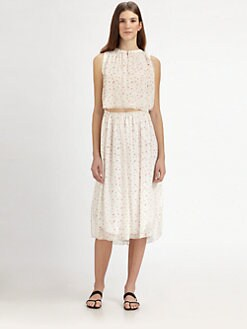 girl. by Band of Outsiders - Convertible Crinkled Chiffon Dress