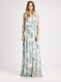 girl. by Band of Outsiders - Butterfly Daydream Silk Maxi Dress