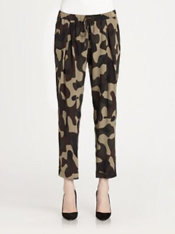 Haute Hippie - Cropped Camo Pants
