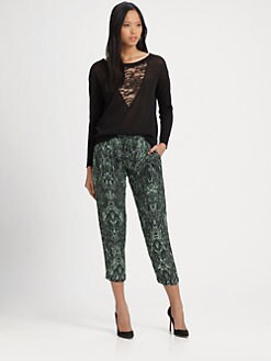Haute Hippie - Lace Pieced Sweater