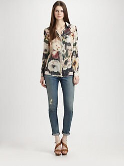 Haute Hippie - Silk Floral Blouse
