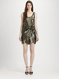 Haute Hippie - Embellished Silk Illusion Dress