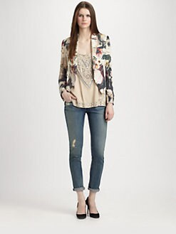 Haute Hippie - Silk Floral Blazer