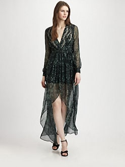 Haute Hippie - Silk Hi-Lo Maxi Dress