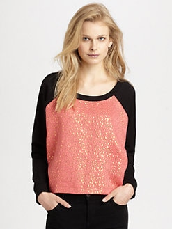 Cut 25 by Yigal Azrouel - Jacquard-Panel Sweatshirt