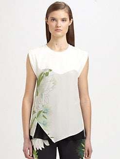 3.1 Phillip Lim - Trompe L'Oeil Silk Printed Top