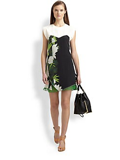 3.1 Phillip Lim - Trompe L'Oeil Silk Printed Dress
