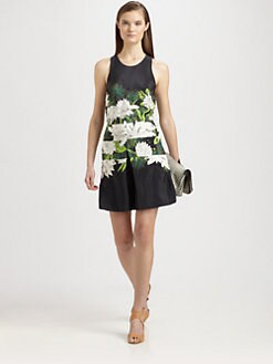 3.1 Phillip Lim - Embellished Silk Printed Dress