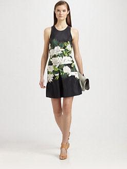 3.1 Phillip Lim - Украсени Silk Отпечатано рокля