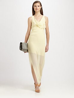 3.1 Phillip Lim - Silk Draped-Neck Maxi Dress