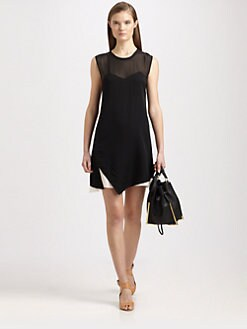 3.1 Phillip Lim - Trompe L'Oeil Stretch Silk-Blend Dress